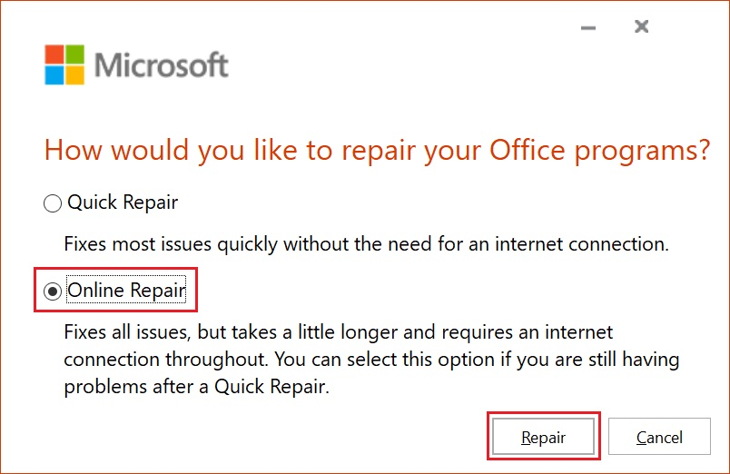 How to Repair Microsoft Office 365 ProPlus - WhatisMyLocalIP