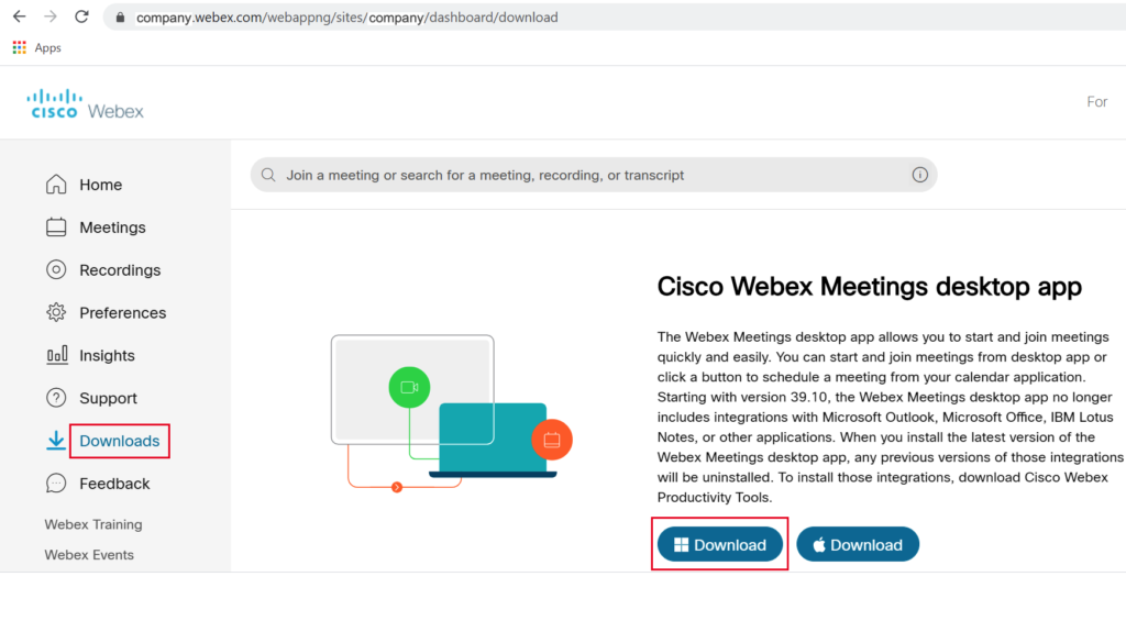 How to Install Cisco WebEx desktop app on Windows ...
